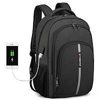 """Современный рюкзак Tigernu T-B3893 15.6"""" USB для ноутбука, города, работы, учебы, поездок"""