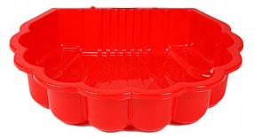 Песочница ракушка пластиковая Dorex красная