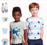 H&M Летний комплект футболок 2 шт для мальчика 4-6 лет рост 110-116