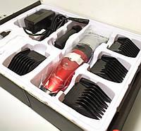 Машинка для стрижки волос с керамическими лезвиями и 2 аккумуляторами Gemei