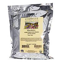 Starwest Botanicals, Порошок красной органической хны, 453,6 г (1 фунт)