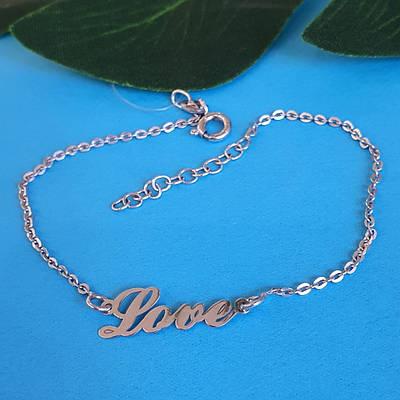 Жіночий срібний браслет Love - Срібний браслет Символ кохання