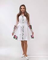"""Сукня лляна біла з вишивкою """"Троянда"""", фото 1"""