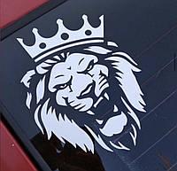 Виниловая наклейка на авто и любую поверхность в Любых размерах - ЛЕВ С КОРОНОЙ