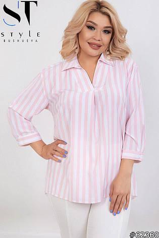 Рубашка женская в полоску размеры: 50-64, фото 2