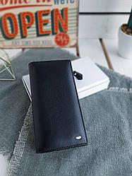 Жіночий шкіряний гаманець розміром 10х19х3 см Чорний (3550)