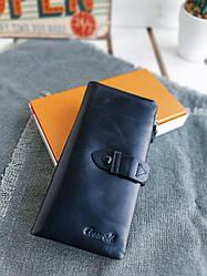Жіночий шкіряний гаманець розміром 18,5x9x3 см Чорний (3559)
