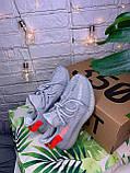 Женские кроссовки в стиле Adidas Yeezy Boost 350 v2 tail light, Адидас изи буст 350 (Реплика ААА), фото 5
