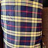 Ткань для обивки уличной мебели и шезлонги мебельная ткань  сублимация Клетка желиая
