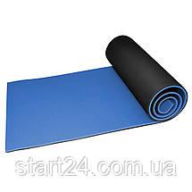 Коврик туристический (каремат) SportVida XPE 1 см SV-EZ0008 Black/Blue, фото 2