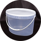 Ведро пластиковое пищевое 11 л (овал) (упаковка 10 шт). Бесплатная доставка!, фото 2