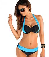 Раздельный женский купальник с красивой зоной декольте