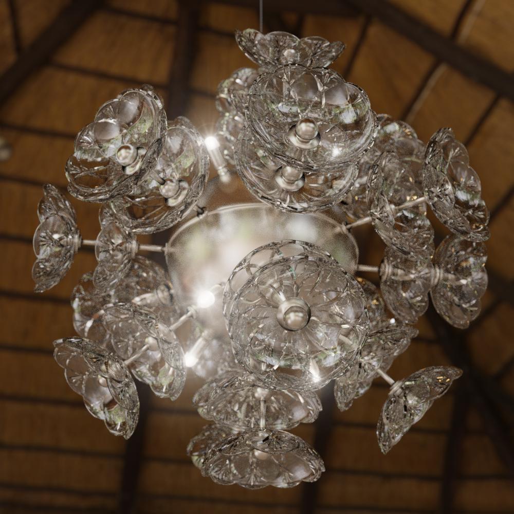 Светильник хрустальный на кухню