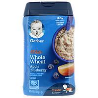 Gerber, Lil' Bits, цельнозерновая каша из пшеницы для детей в возрасте старше 8 месяцев, яблоко и голубика, 227г (8унций)