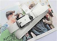Кожаный ремень Philipp Plein white, фото 1