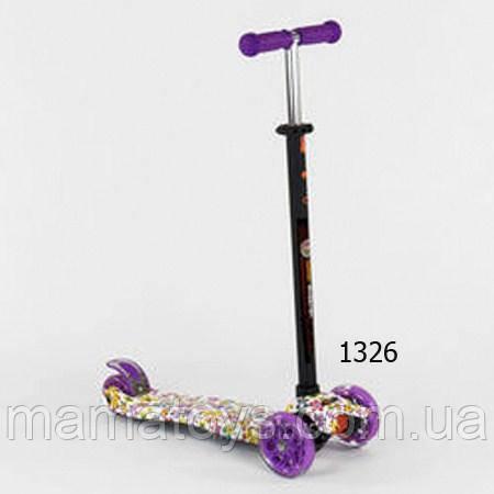 Детский Трехколесный Самокат Best Scooter Макси Принт 4 кол. PU, светятся 1314 - 1321 -  1326 - 1386- 1396