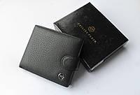 Мужской кожаный кошелек Philipp Plein черный, фото 1