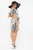 Хлопковое платье-рубашка белое с принтом размеры S M L XL, фото 2
