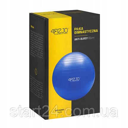 Мяч для фитнеса (фитбол) 4FIZJO 65 см Anti-Burst 4FJ0030 Blue, фото 2