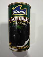Оливки Diamir черные з косточкой Diamir Aceitunas Negras 345г Diamir ж/б