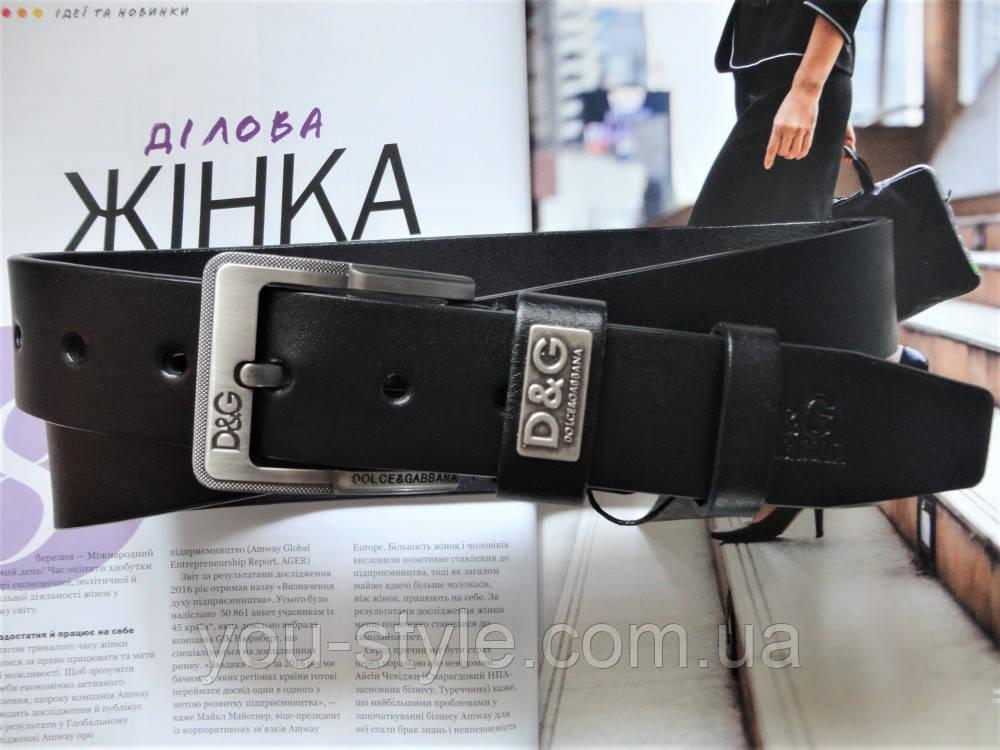 Кожаный ремень Dolce&Gabbana черный