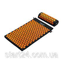 Коврик акупунктурный с валиком 4FIZJO Аппликатор Кузнецова 72 x 42 см 4FJ0042 Black/Orange, фото 2