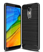"""Силиконовый чехол Carbon для Xiaomi Redmi 5 / на 5,7"""" дюйма диагональ Черный"""