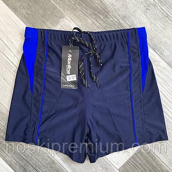 Плавки шорты купальные мужские Modica, 48-56 размер, сине-синие, 15001