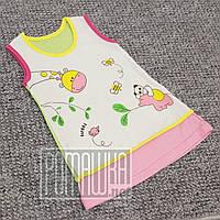 Детский летний сарафан платье р. 86-92 1-2 года для девочки на лето КУЛИР 100% тонкий хлопок 3582 Розовый
