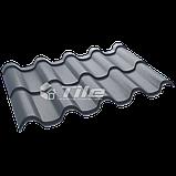 Металлочерепица Премиум плюс 7016 0,5 мм Hight Build Polyester, фото 2