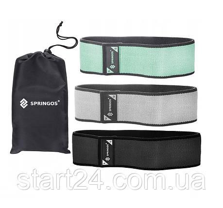 Резинка для фитнеса и спорта тканевая Springos Hip Band 3 шт FA0112, фото 2