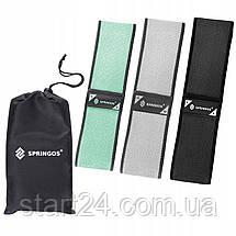 Резинка для фитнеса и спорта тканевая Springos Hip Band 3 шт FA0112, фото 3