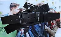 Мужской ремень для джинсов Massimo Dutti с черной пряжкой черный, фото 1