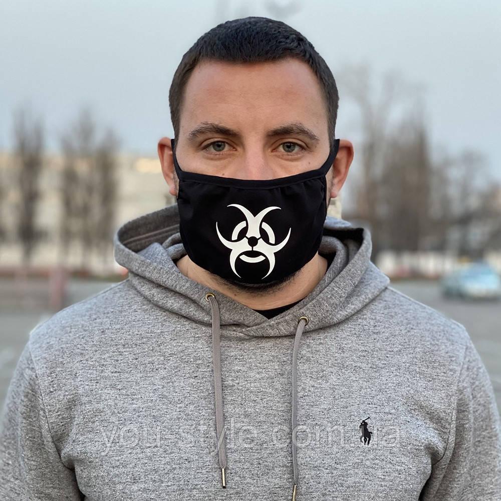 Защитная маска черная Biohazard