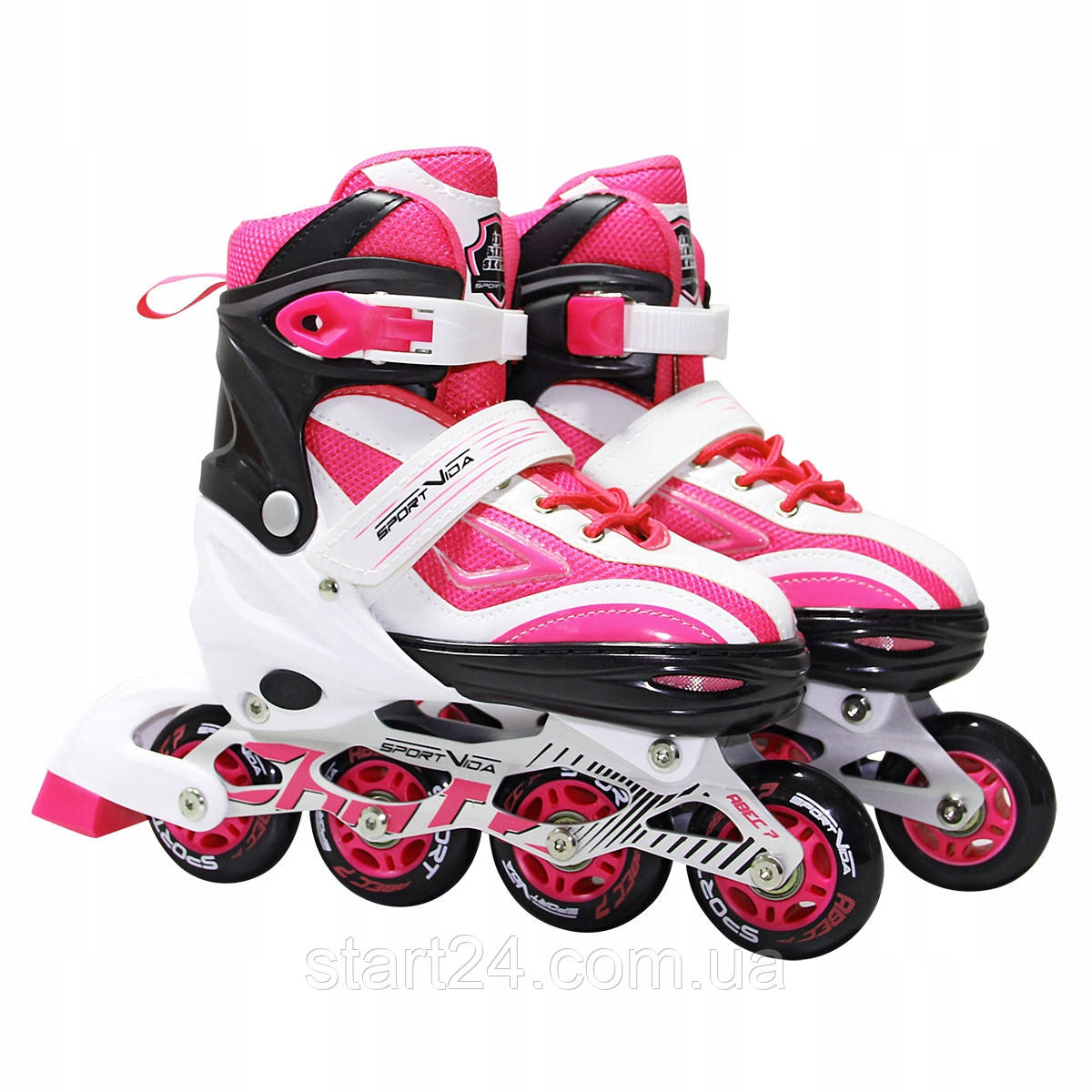 Роликовые коньки SportVida SV-LG0044 Size 39-42 White/Pink
