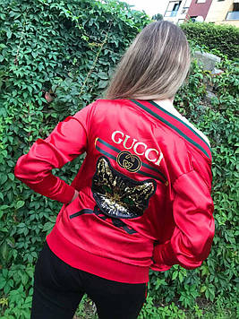 Ветровка женская Gucci красная