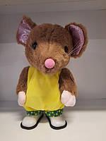 М'яка іграшка мишка, мягкая игрушка мышка музыкальная
