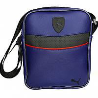 Мужская барсетка Puma Ferrari синий (Пума Ферари) сумка через плече, фото 1