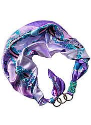 """Атласний хустку """"Блакитна орхідея"""", шарф-кольє, шарф-чокер, шийну хустку My Scarf"""