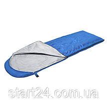 Спальный мешок (спальник) одеяло SportVida SV-CC0051 +2 ...+ 16°C R Blue/Grey, фото 3