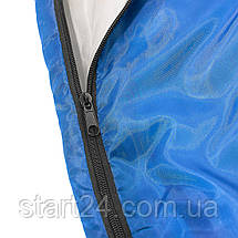 Спальный мешок (спальник) одеяло SportVida SV-CC0051 +2 ...+ 16°C R Blue/Grey, фото 2