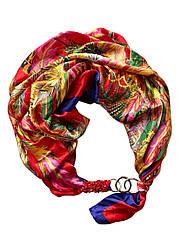 """Атласний хустку """"Яскрава румба"""", шарф-кольє, шарф-чокер, шийну хустку My Scarf"""
