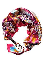 """Атласний хустку """"Східні мотиви"""", шарф-кольє, шарф-чокер, шийну хустку My Scarf"""