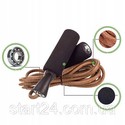 Скакалка кожаная для бокса Springos FA0032, фото 2