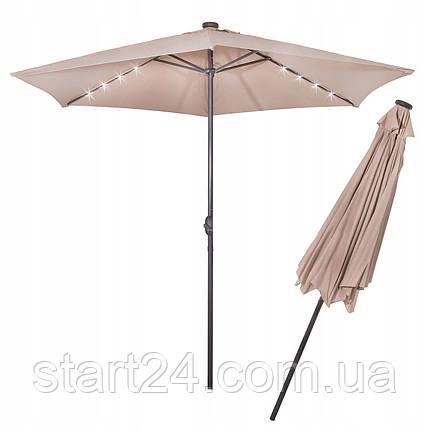 Зонт садовый с LED подсветкой (автономная) Springos 300 см GU0006, фото 2