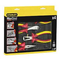 Набор из четырех шарнирно-губцевых инструментов для электрика MAXSTEEL VDE 1000V STANLEY 4-84-489