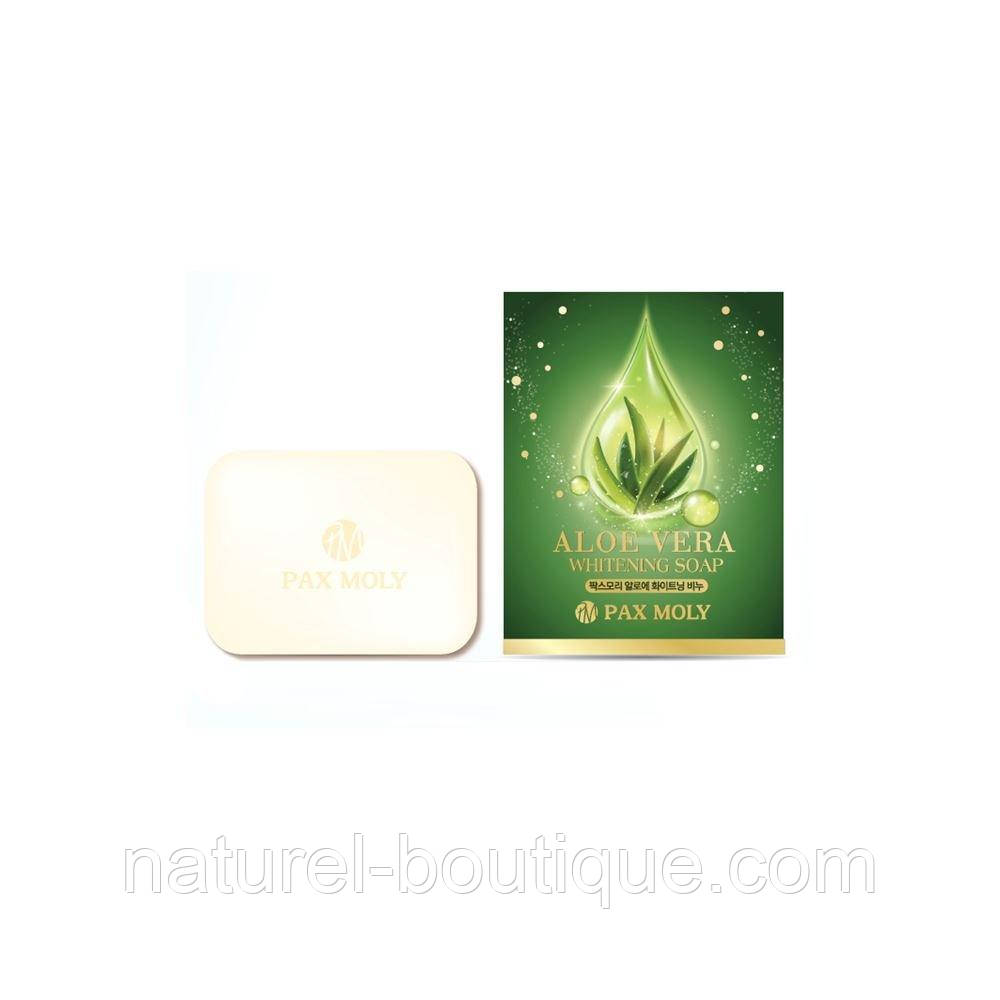Мыло для кожи Pax Moly Aloe Vera Whitening Soap с алоэ  вера