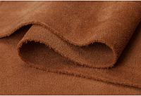 Натуральная кожа Велюр (спил-велюр), рыжий замш