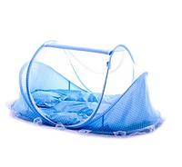 Хит сезона! Детская портативная кроватка с москитной сеткой Happy Baby голубая