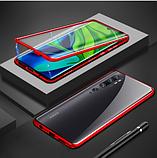 Магнитный металл чехол FULL GLASS 360° для Xiaomi Mi 10 + стекло на камеру /, фото 7